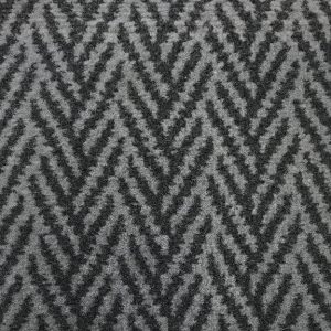 Marine Tuft Carpet 445 Herringbone Charcoal Grey (only On Order 4mtr Only)
