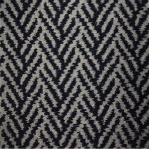 Marine Tuft Carpet 452 Herringbone Platinum Navy (only On Order 4mtr Only)